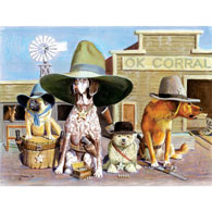 OK Corral 300 Large Piece Jigsaw Puzzle