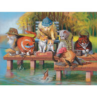 Fishing on the Dock 300 Large Piece Jigsaw Puzzle