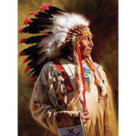 Profile of a Chief 1000 Piece Jigsaw Puzzle