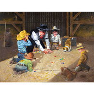 Only Game in Town 500 Piece Jigsaw Puzzle