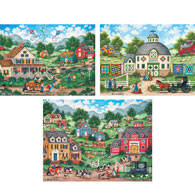 Set of 3: Bonnie White 300 Large Piece Jigsaw Puzzles