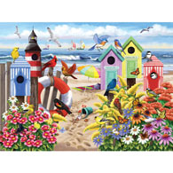 At Home by the Sea 300 Large Piece Jigsaw Puzzle