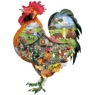 Rule the Roost 1000 Piece Shaped Jigsaw Puzzle