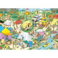 Camping in the Forest 1000 Piece Jigsaw Puzzle