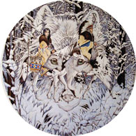 Keeper of the Wolf 1000 Piece Round Jigsaw Puzzle