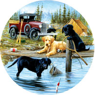 Camping Trip 500 Piece Round Jigsaw Puzzle