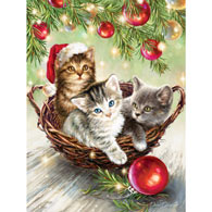 Christmas Kittens 300 Large Piece Jigsaw Puzzle