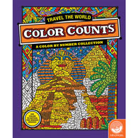 Travel the World-Color by Number Book
