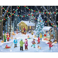 Woodland Skaters 1000 Piece Jigsaw Puzzle
