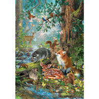 Gathered in the Forest 100 Large Piece Jigsaw Puzzle