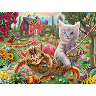 Cats on the Farm 300 Large Piece Jigsaw Puzzle