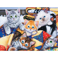Cozy Kittens 300 Large Piece Jigsaw Puzzle