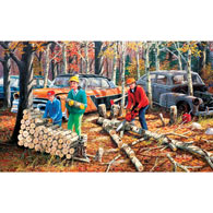 Fall Chores 300 Large Piece Jigsaw Puzzle