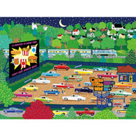 Date Night Drive-In 300 Large Piece Jigsaw Puzzle