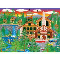 Dozing Bear Lodge 300 Large Piece Jigsaw Puzzle