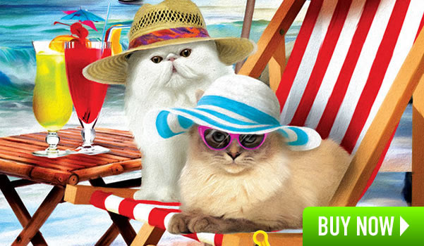 Beach Cats 300 Large Piece Jigsaw Puzzle