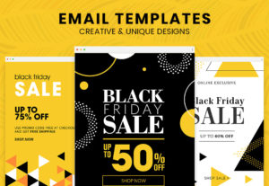 Diseño de plantilla de email marketing html adaptable creativa y personalizada