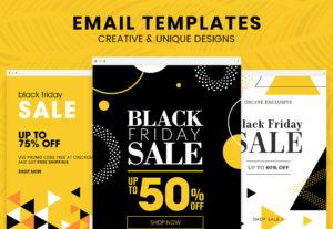 Diseño de plantilla de email marketing html adaptable creativa y personalizada