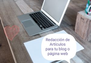 Redacto artículos para tu blog o web