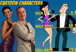 Diseño de personajes Cartoon y Caricaturas