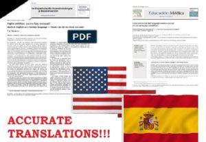 Transcripción, traducción español-inglés, inglés-español