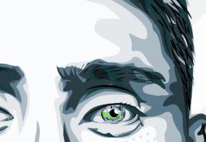 ilustración de retrato vectorial en alta calidad