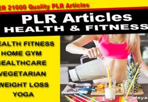 Te enviaré 21000 artículos de calidad PLR Salud-Fitness