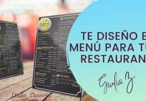 Te diseño un menú wow tipo cartel para tu restaurante o negocio de comida