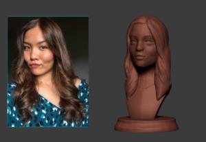 Convertiré tu foto en un busto para impresión 3D