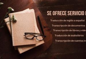 Traducción de Textos de Inglés a español.