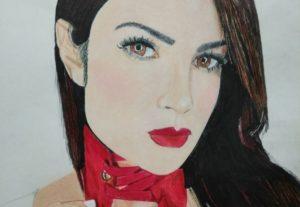 Haré tu retrato realista con lápices de colores