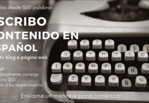 Escribo artículos en español para tu blog o web