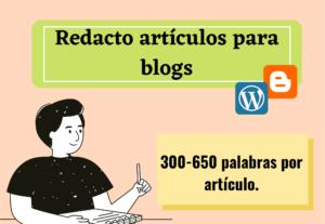 Redacción de artículos para blogs o páginas web