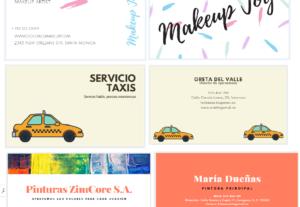Diseño de tarjetas de presentación o felicitación
