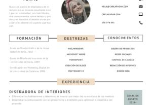 Diseño tu Curriculum 1 sola página minimalista