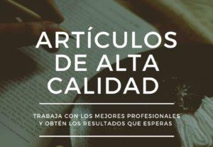 Creamos artículos de calidad en español-ingles