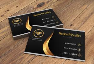 Diseño de tarjetas de presentación y más.