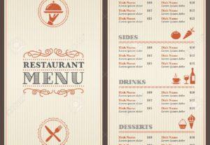 creación diseños de menús para restaurantes y bares