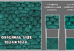 Comprimo tus texturas consiguiendo mejor detalle.