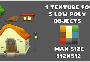 Texturizo los modelos 3D low poly de tu proyecto.