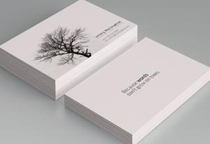 Diseño de tarjetas de presentación únicas