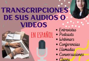 Transcribiré su audio o vídeo a texto en español