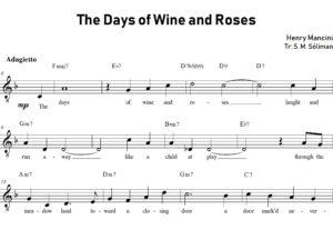 Transcribiré a partitura una melodía o canción