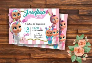 invitaciones de cumpleaños infantiles personalizad