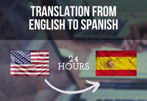 Traduciré 500 palabras del inglés al español