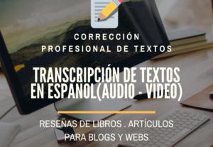 Corrección profesional de textos en español