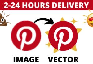 Vectorizaré su logotipo o imagen en 2 horas
