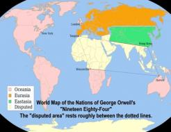 George Orwell's 1984 Map of the World