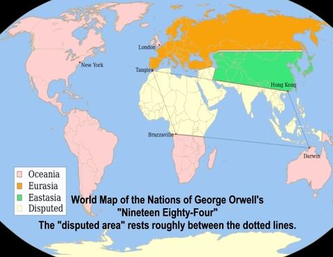 View: George Orwell\'s 1984 Map of the World - SocialTrade ...