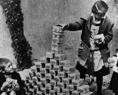 German children playing with worthless money.png